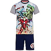 Marvel Avengers Boys Short Pyjamas - Grey