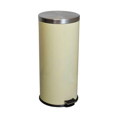 Harbour Housewares 30 Litre Kitchen Pedal Bin - Cream