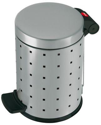 Hailo 27cm Trento Style 4 Pedal Cosmetics Bin in Silver