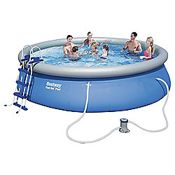 "Bestway 15ft x 42"" Fast Set Swimming Pool with Pump & Ladder"