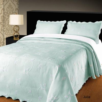 Julia Duck Egg Bedspread, Single