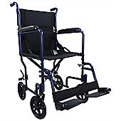 Aidapt Aluminium Compact Transport Wheelchair in Blue