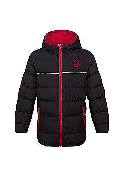 Nottingham Forest FC Boys Quilted Jacket - Black