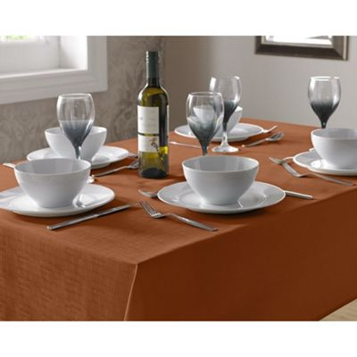 Select Round Tablecloth 180cm - Burnt Orange