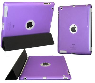 iTALKonline 18679 Purple Smart ProGel Skin Case with Logo Cut Out - Apple iPad 2 16gb 32gb 64gb (Works with Apple Smart Cover)