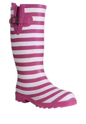 Trespass Samira Striped Wellies Adult 05 Pink