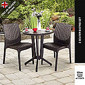 Keter Rattan Style 2 Seater Bistro Set