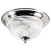 Traditional Satin Chrome IP44 Bathroom Ceiling Light Fitting