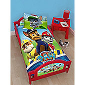 Paw Patrol Rescue Junior Toddler Bed & Fully Sprung Mattress
