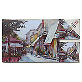 Tradestock Cafe Scene Placemats and Coasters 8pk