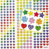 Mini Holographic Craft Stickers(Pack of 348)