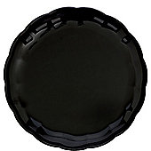 Black Round Tray - 30cm Plastic