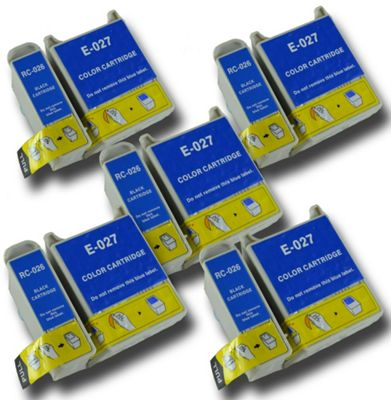 The Ink Squid Epson T026 T027 Compatible Clown Fish non-OEM ink cartridges for Epson Stylus