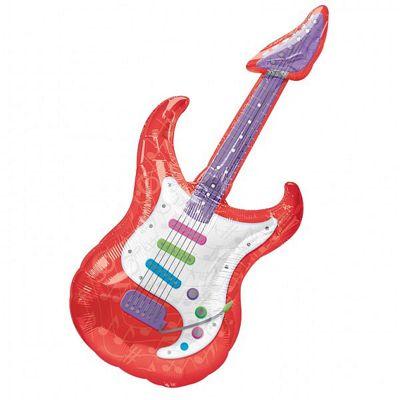 Guitar Supershape Balloon - 41 inch Foil