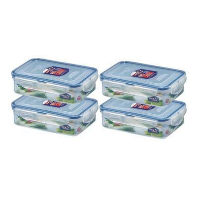 Lock and Lock Rectangular Storage Container 550ml, Set of 4