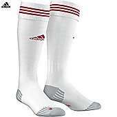 adidas adiSock Football Sport Socks White/Red - White