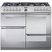 Stoves Sterling R1000DFT S/ST 1000mm Dual Fuel Range Cooker 7 x Burners WOK S/Steel