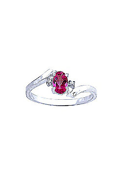 QP Jewellers Diamond & Pink Topaz Embrace Ring in 14K White Gold