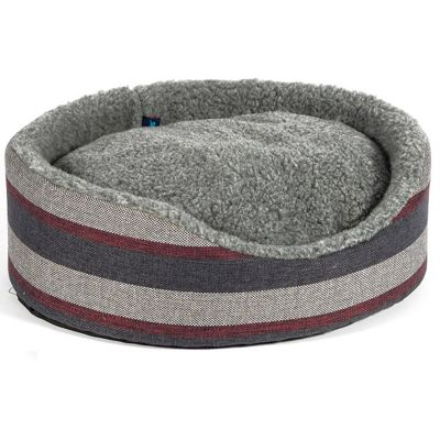 Ancol Pewter Stripe Oval Bed - 50cm