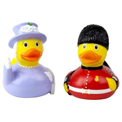 Lilalu The Queen and Royal Grenadier Guard Rubber Duck Bathtime Toy Set