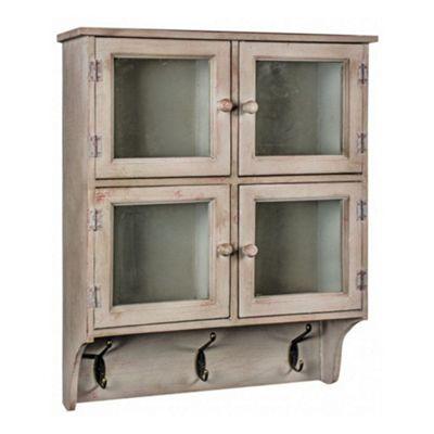 4 Door Cabinet With Hooks