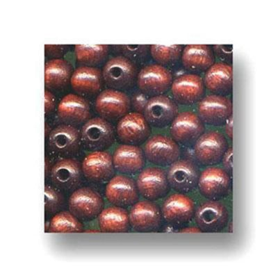 Wood Beads Brown 6mm Round