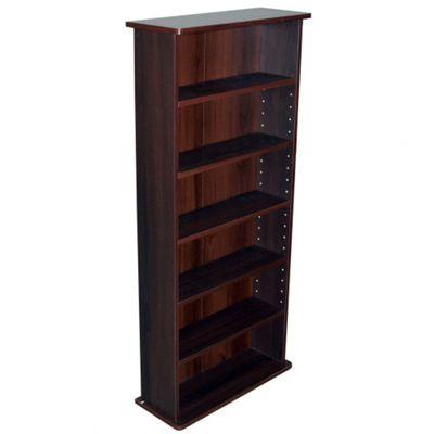 Techstyle 222 CD or 104 DVD Media Storage Shelf Unit - Dark Oak