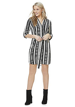 F&F Striped D-Ring Shirt Dress - Black