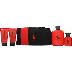 2b7b76b59142 Ralph Lauren Polo Red Gift Set 125ml EDT + 40ml EDT + 50ml Aftershave Balm +