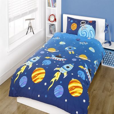 Space Themed Toddler / Junior Bedding Bundle 4.5 Tog 120 x 150 cm