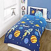 Space Themed Toddler / Junior Bedding Bundle 4.5 Tog 120 x 150 cm