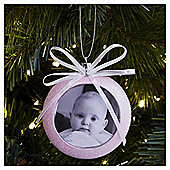 Weiste Pink Baby Photo Frame Christmas Tree Decoration