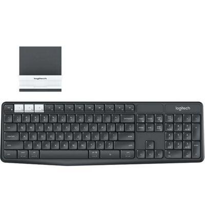 Logitech K375s RF Wireless + Bluetooth Hebrew Graphite White keyboard