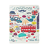 "iPad Pro 9.7"" Love London Sketched PU Leather Smart Cover Case - White"