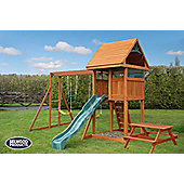 Selwood Balmain Climbing Frame - Swingset, Chalk Wall & Slide