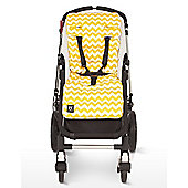 Outlook Cotton Travel Comfy Pram Liner (Yellow Zig Zag)