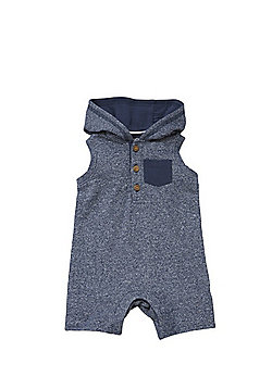 F&F Hooded Sleeveless Romper - Blue