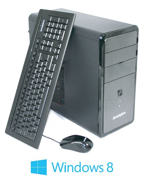Zoostorm, Intel Celeron Dual Core G550 CPU, 500GB HDD, 2GB DDR3 Ram, DVDRW, mATX Tower case, Windows 8 64bit.