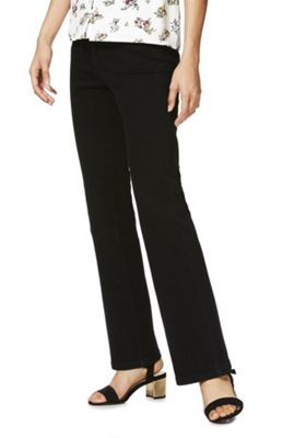 F&F Authentic High Rise Bootcut Jeans 14 Short leg Black