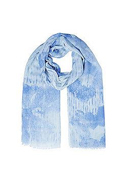 F&F Textured Tie-Dye Scarf - Blue