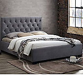 Happy Beds Cologne Velvet Fabric Low Foot End Bed - Grey