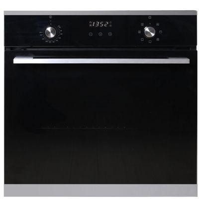 SIA 60cm Integrated Built In 7 Function 76L Single Fan Oven In Black