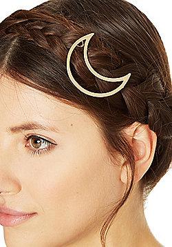 Pieces Metal Moon Hairclip - Gold