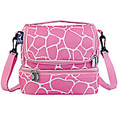 Dual Compartment Lunch Bags- Pink Giraffe