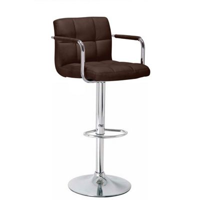 Havana Brown Faux Leather Bar Stool