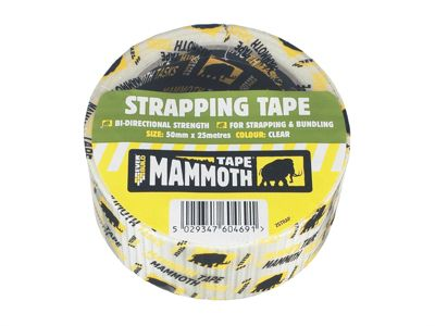 Everbuild Strapping Tape Clear 50mm x 25m