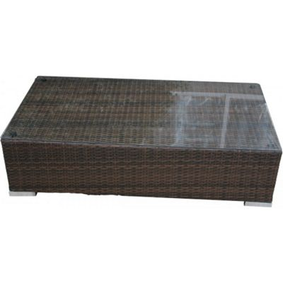 Monaco Ottoman / Coffee Table in Chocolate