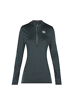 Canterbury Ladies Vapodri Poly 1/4 Zip - Vanta Black - Black