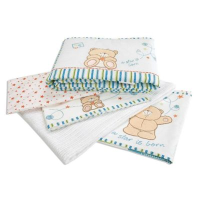 Forever Friends Little Star Luxury Cot Bed Coverlet Bedding Bale