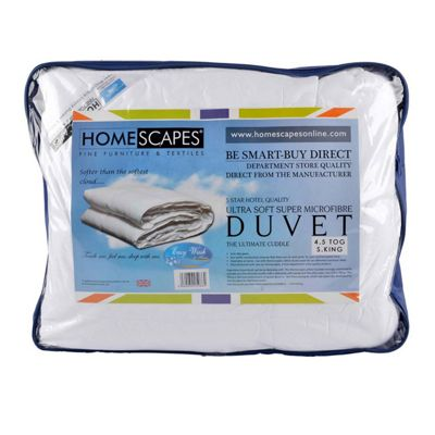 Homescapes Luxury Hotel Quality Super Microfibre 4.5 Tog Super King Size Summer Duvet Quilt